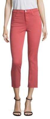 J Brand Ruby High-Rise Crop Twill Skinny Jeans