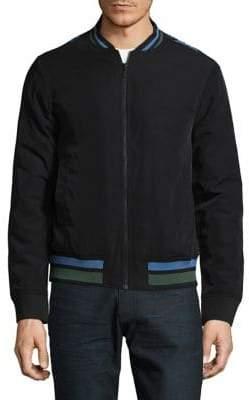 Highline Collective Printed Back Bomber Jacket