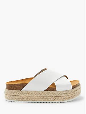 9af26a7ad128 John Lewis   Partners Designed for Comfort Kay Cross Strap Flatform Sandals