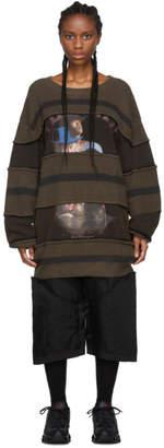 Telfar Brown Striped Knit Crewneck