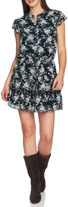 1 STATE 1.STATE Forest Tiered Ruffle Minidress
