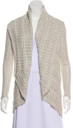 Cotton by Cashmere Long Sleeve Sheer Knit Cardigan