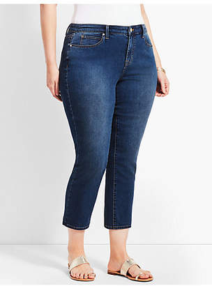 Talbots Plus Size Exclusive Denim Straight Leg Crop - Decker Wash