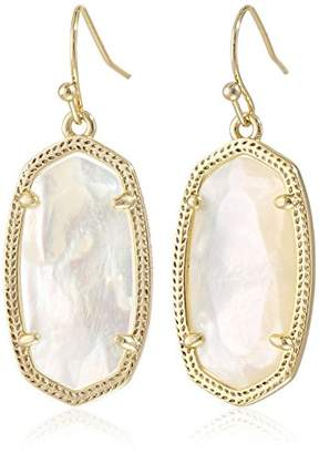 "Kendra Scott Signature"" Dani Gold plated Ivory Mother-Of-Pearl Drop Earrings"