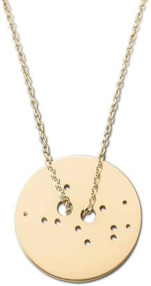 Ekria - Virgo Zodiac Necklace Shiny Yellow Gold