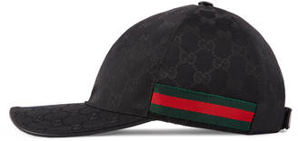 Original GG canvas baseball hat with Web $320 thestylecure.com