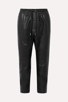 Nili Lotan Monaco Leather Straight-leg Pants - Black