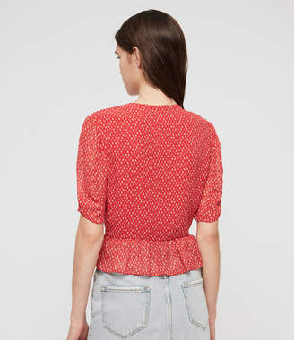 AllSaints Ilia Hearts Top