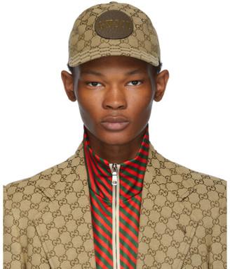Gucci Beige GG Patch Cap