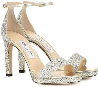 Jimmy Choo Misty 100 glitter sandals