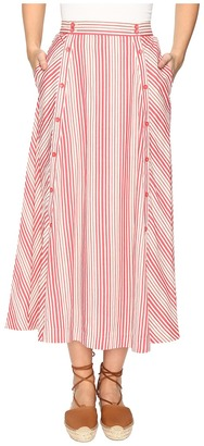 Jack by BB Dakota - Norman Varigated Stripe Button Front Skirt Women's Skirt $70 thestylecure.com