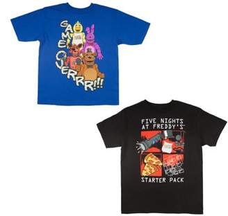 "Five Nights At Freddy's Five Nights at Freddy's ""Game Over"" and ""Starter Pack"" Short Sleeve Tee, 2-Piece Set"