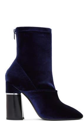 3.1 Phillip Lim Blue Velvet Kyoto Boots