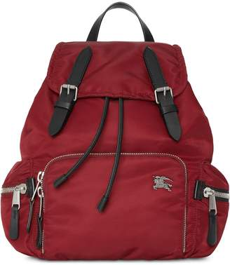Burberry The Medium Rucksack in Nylon and Leather