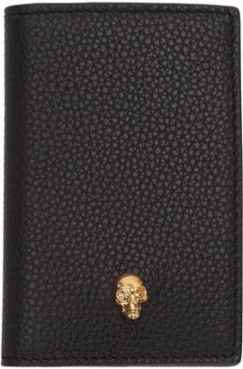 Alexander McQueen Black Leather Skull Wallet $215 thestylecure.com
