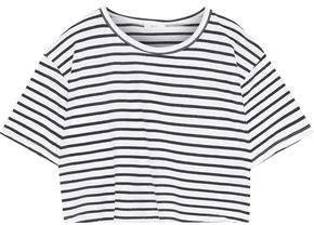 A.L.C. Teagan Cropped Cotton-Jersey Top