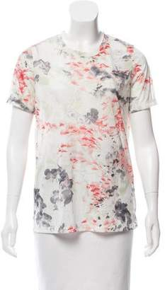 Prabal Gurung Long Sleeve Floral Print Top