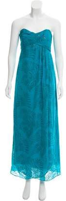 Nicole Miller Metallic Silk Dress