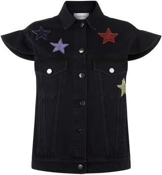 Valentino Sequin Star Denim Gilet