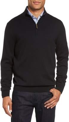 Nordstrom Half Zip Cotton & Cashmere Pullover