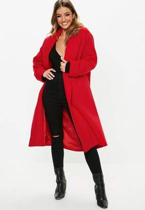Missguided Shawl Collar Midi Coat