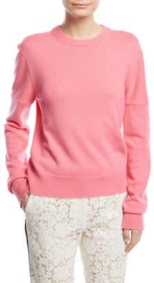 Calvin Klein Crewneck Cold-Shoulder Cashmere Sweater