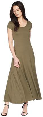 Lauren Ralph Lauren Petite Jersey Scoop Neck Maxi Dress Women's Dress