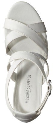 Mossimo Women's Wandy Wood Heeled Strappy Sandal - White