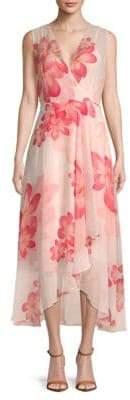 Calvin Klein Floral-Print Hi-Lo Dress