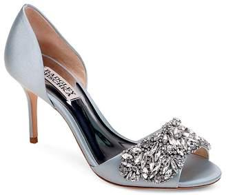 Badgley Mischka Women's Hansen Embellished Satin d'Orsay High Heel Pumps
