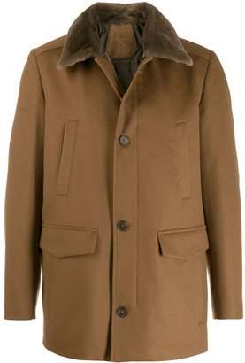 Corneliani textured collar coat
