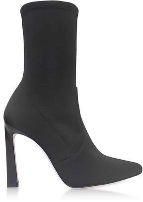 Stuart Weitzman Rapture 100 Black Canvas High Heel Boots