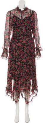 Dolce & Gabbana Silk Rosette Dress Black Silk Rosette Dress