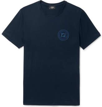 Fendi Slim-Fit Logo-Print Cotton-Jersey T-Shirt