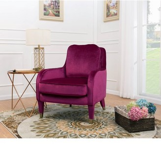 Chic Home Milka Accent Club Chair Sleek Elegant Velvet Upholstered