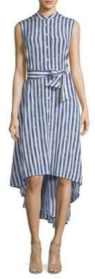 Max Mara Etiopia Striped High-Low Shirtdress