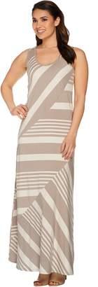 Lisa Rinna Collection Regular Stripe Printed Knit Maxi Dress