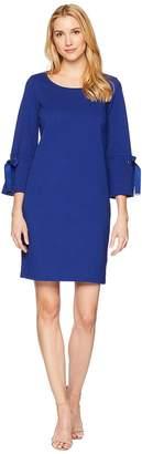 Lauren Ralph Lauren Lace-Up Sleeve Cotton Dress Women's Dress