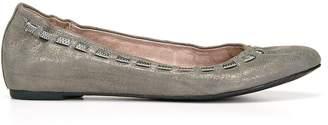 Donald J Pliner PADDI, Distressed Metallic Ballet Flat