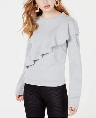 Material Girl Juniors' Ruffled Sweatshirt