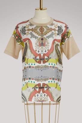 Etro Printed silk T-shirt