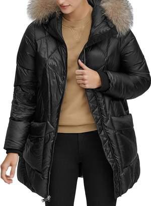 Andrew Marc McKenna Fur-Trim Puffer Coat