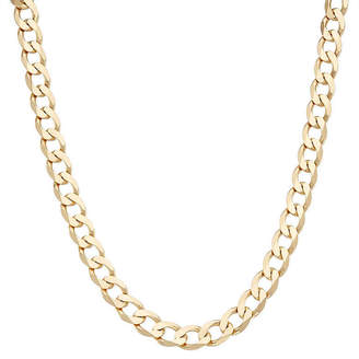 FINE JEWELRY Mens 18K Yellow Gold Over Silver 9.6mm 24 Curb Chain Necklace