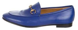Gucci Jordaan Round-Toe Loafers