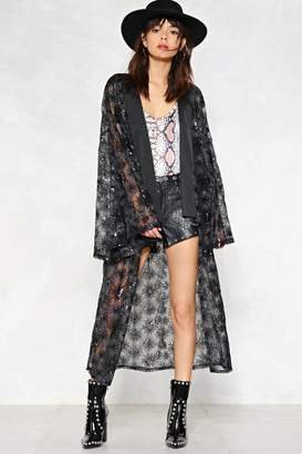 Nasty Gal What a Star Sequin Kimono