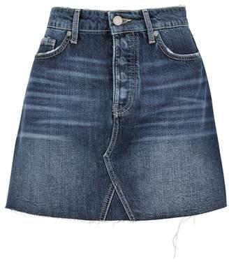 Paige Aideen Dark Blue Denim Mini Skirt