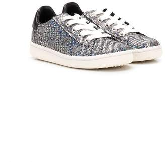 Moa Kids x Disney low-top glitter sneakers