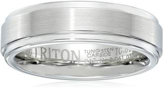 Triton Amazon Collection Men's Tungsten 6mm Step Edge Comfort Fit Band