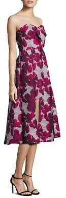 Black Halo Caine Asymmetrical Strapless Dress $575 thestylecure.com