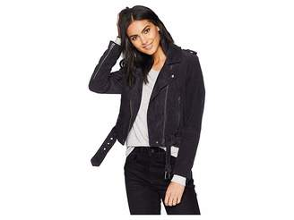 Blank NYC Corduroy Moto Jacket in Twilight Zone